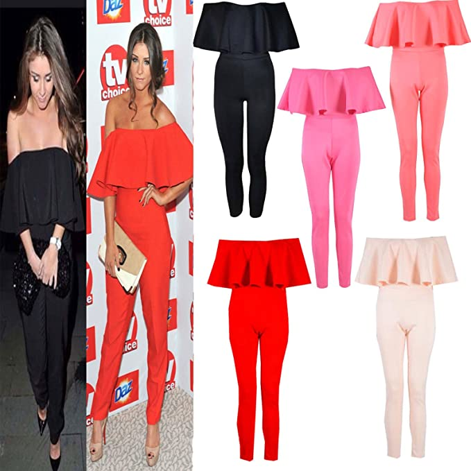 ee983e69f88f Amazon.com  Womens Ladies Brooke Vincent Inspired Frill Off Shoulder ...