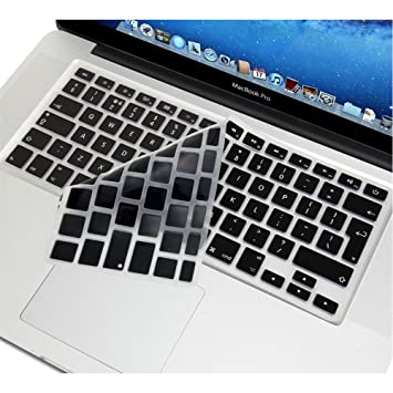 buy online feed8 19c17 Se7enline Unique Ultra Thin Silicone Keyboard Cover Black Keyboard Skin  Protector (Europe Layout UK Version) for All MacBook Air 13