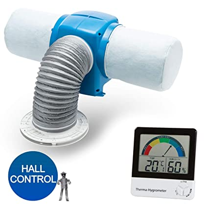 Drimaster Eco HC with FREE DIGITAL HYGROMETER - 7 Year Warranty -  Condensation Control Bundle Nuaire PIV Unit For Use In Homes With Lofts to  Deal With