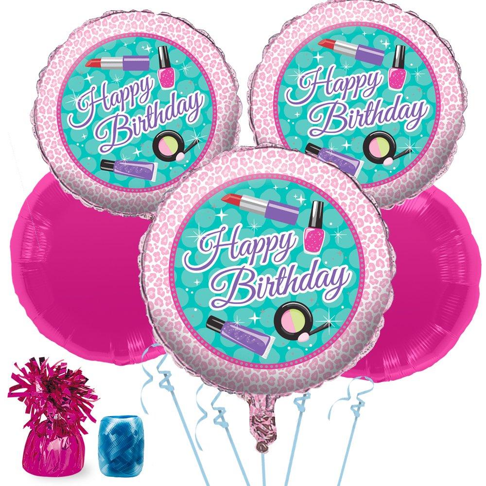 Costume SuperCenter Spa Birthday Balloon Bouquet Kit - Party Supplies