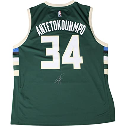 Image Unavailable. Image not available for. Color  Giannis Antetokounmpo  Signed Milwaukee Bucks Green Adidas Replica Jersey ... f126f511f