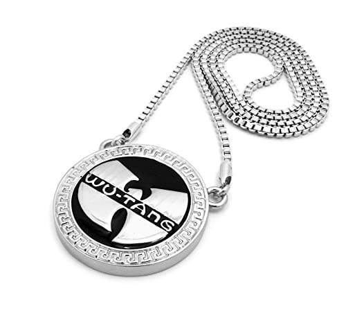 Shiny jewelers usa mens wu tang clan round medallion hip hop pendant shiny jewelers usa mens wu tang clan round medallion hip hop pendant gold silver black 30quot aloadofball Images