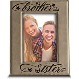 Personalised Siblings By Heart Oak Photo Frame Brother Sister