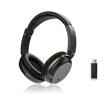 ssdfly FM inalámbrico auriculares estéreo, USB Transmisor, mejor en Auriculares para juegos, entrenamiento, iPad, TV, ordenador y Gadgets (negro): ...
