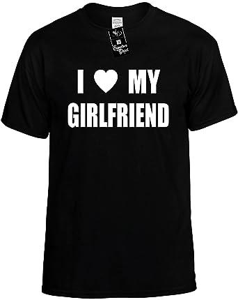 Amazon.com: Mens Funny T-Shirt (I LOVE (HEART) MY GIRLFRIEND ...