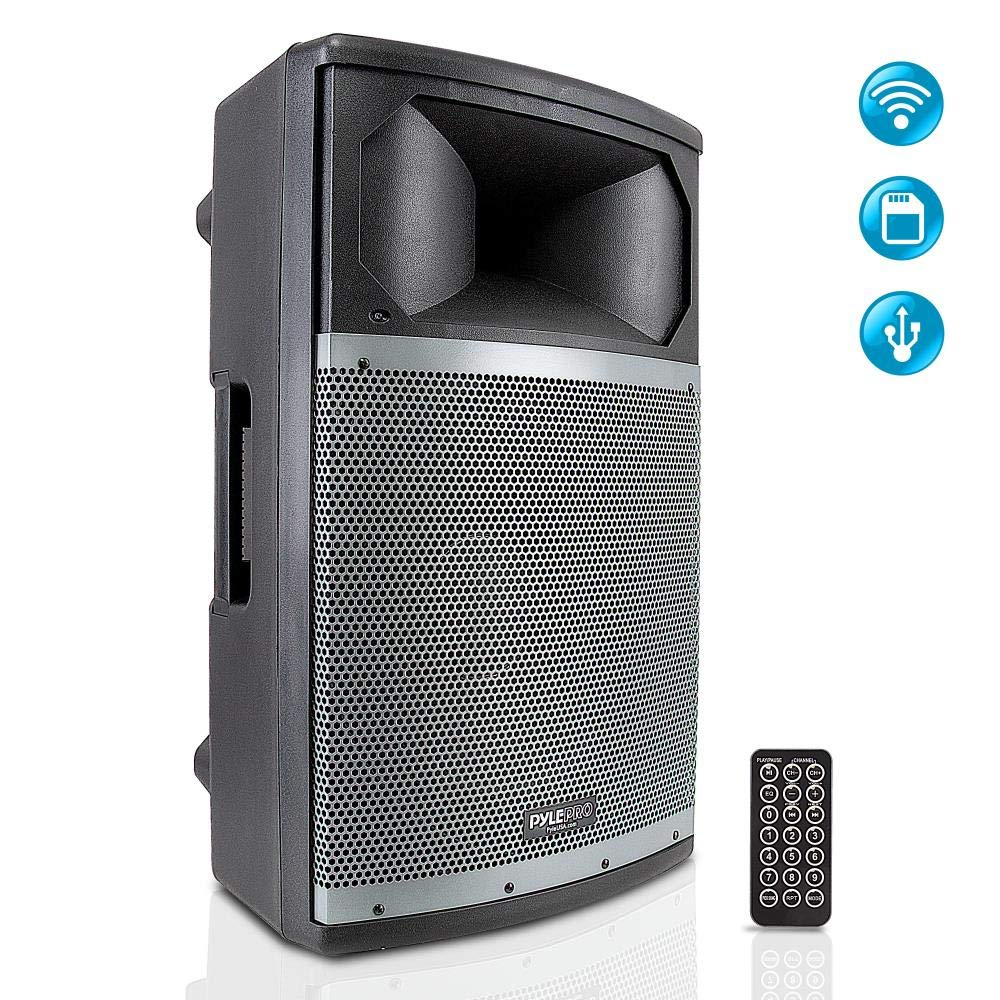 Wireless Bluetooth PA Speaker System - Portable Active Powered 1000W 2 Way Outdoor Amplifier Loudspeaker - 15'' Subwoofer 1.75'' Tweeter, USB SD RCA XLR Mic in - Dj Party On Stage - Pyle PPHP158BMA by SP2VJ