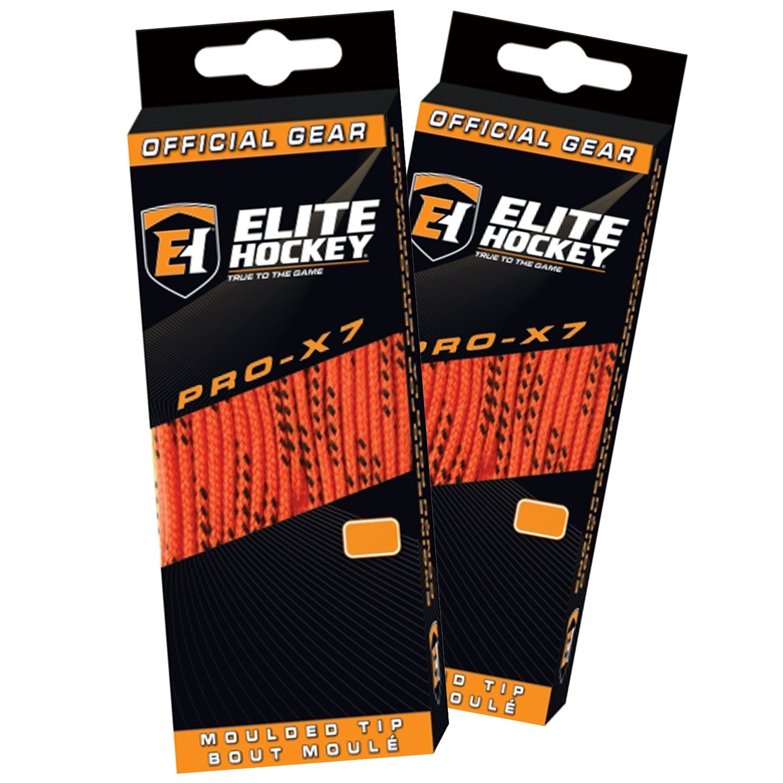 Elite Hockey Pro X7 Wide Cotton Hockey Skate Laces Set of 2 Pairs