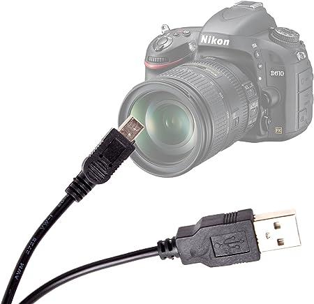 DURAGADGET Cable USB-miniUSB De Sincronización para La Cámara ...