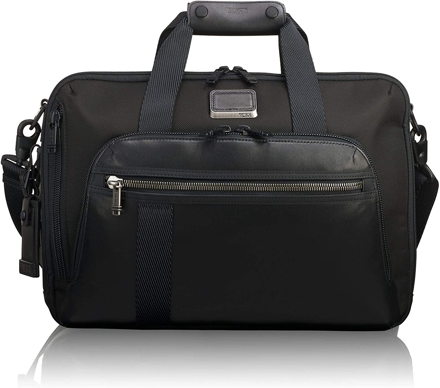 TUMI – Alpha Bravo Mountain Three Way Brief Laptop Briefcase – 15 Inch Computer Backpack Bag for Men and Women – Black