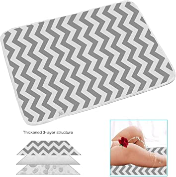 """20x28/"""" Baby Change Pad Portable,Baby Washable Waterproof Bed Pad Washable Diaper Changing Mat Pad ,Waterproof Sheet,Purpose Travel Changing Mat for Infants,Children and Pets"""