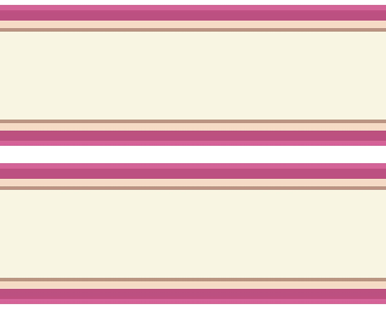 Tapetenbord/üre pink Kleisterbord/üre Streifen rosa 4-teilig 520x15cm Wanddeko,m/ädchen Borte Wandbord/üre