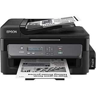 Epson M205 All in One Wireless Ink Tank Black and White Printer with ADF, Black