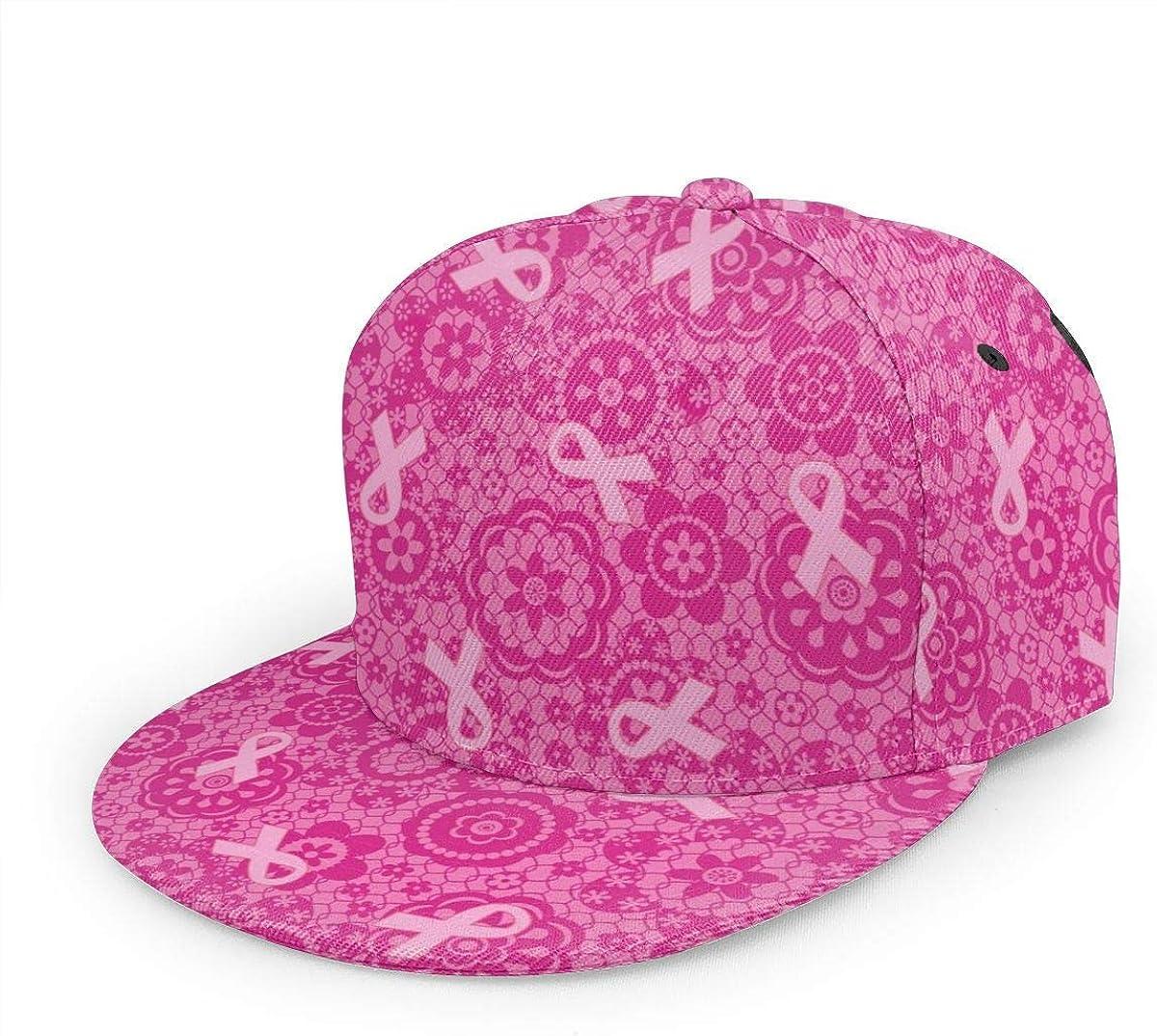 Pink Ribbon Lightweight Unisex Baseball Caps Adjustable Breathable Sun Hat for Sport Outdoor