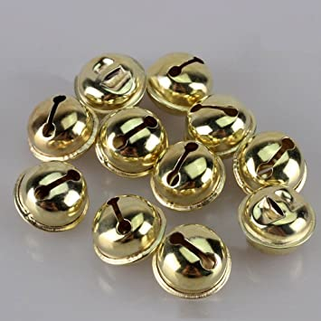 100pcs 12mm Jingle Bells Charms for DIY Craft Xmas Tree Gift Ornament Gold A Celebrations & Occasions