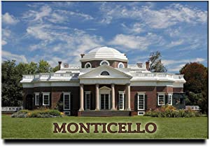 Monticello Fridge Magnet Virginia Travel Souvenir Thomas Jefferson