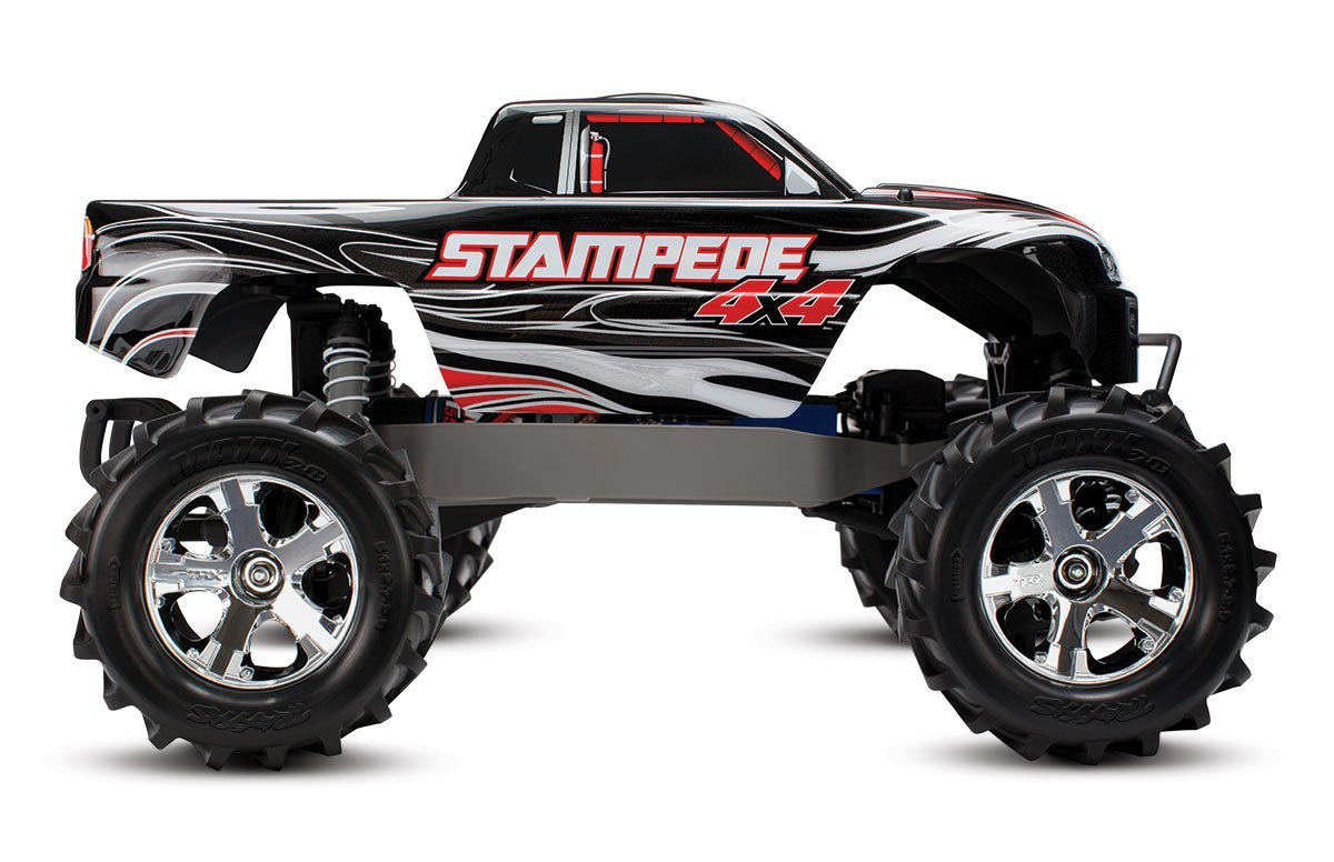 Amazon Traxxas Stampede 4X4 1 10 Scale 4wd Monster Truck With TQ 24GHz Radio Black Toys Games