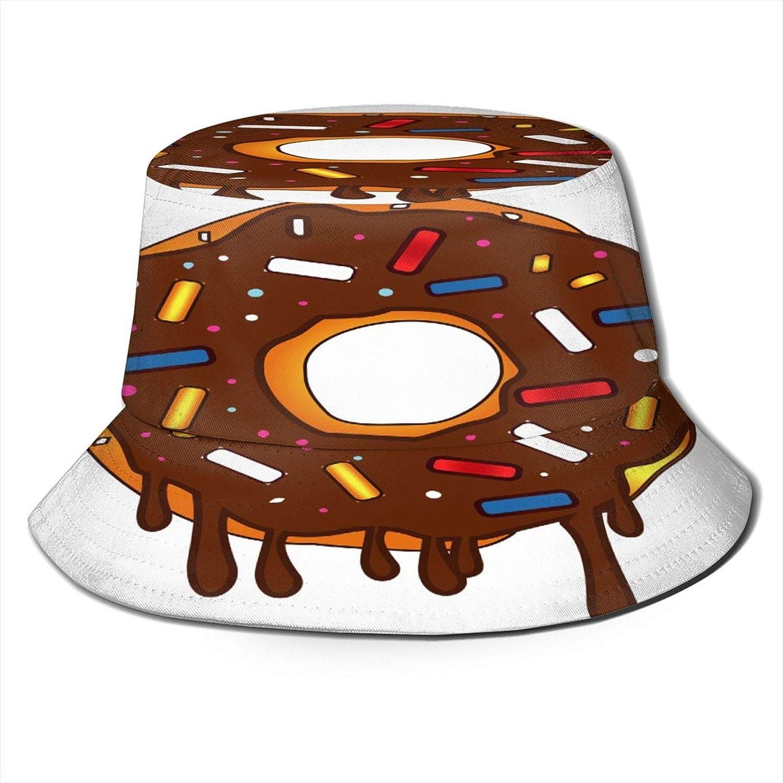 Donuts, Strawberry Sandwiches, Bananas, Pizza Bucket Hats for Women Teens Sun Visor Fisherman Aesthetic Hat Mens Cap