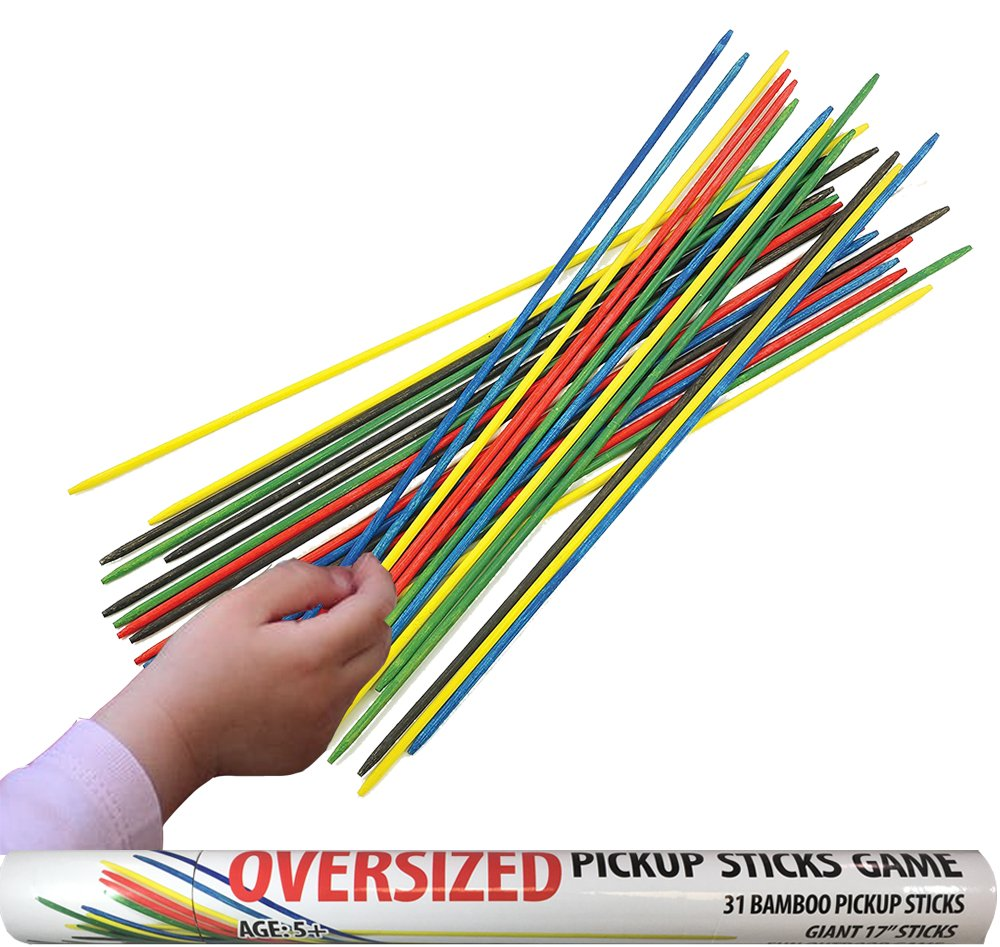 Kovot Oversize Pick Up Sticks Game - Includes (31) Giant 17'' Inch Bamboo Sticks and Game Instructions by Kovot