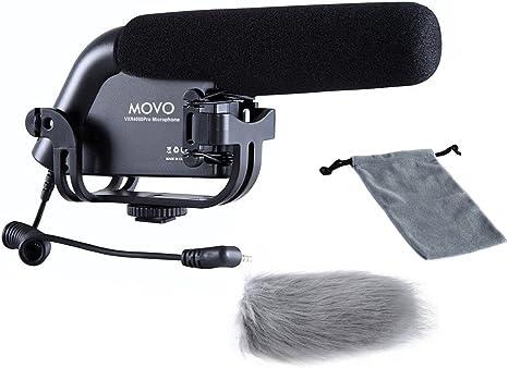 Movo vxr4000-pro escopeta condensador de vídeo micrófono para ...