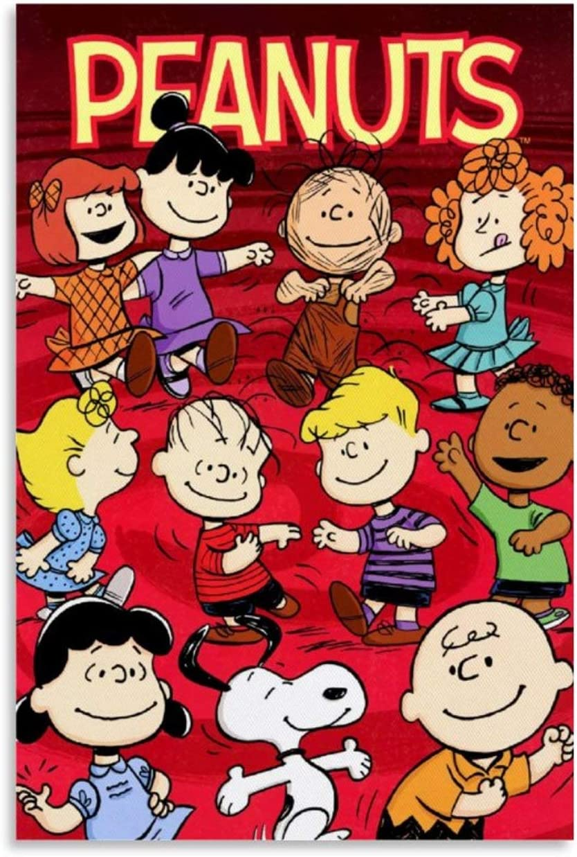 Art Wall Decor Canvas Snoopy and Charlie Brown Peanuts 02 Decoration Modern Artwork for Walls 08x12inch(20x30cm)