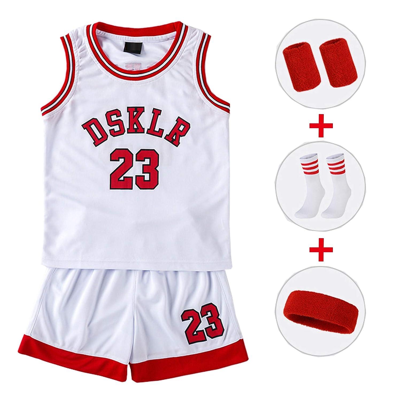 CURVEASSIST Conjuntos de Camisetas de Baloncesto #23 Niños Escuela ...