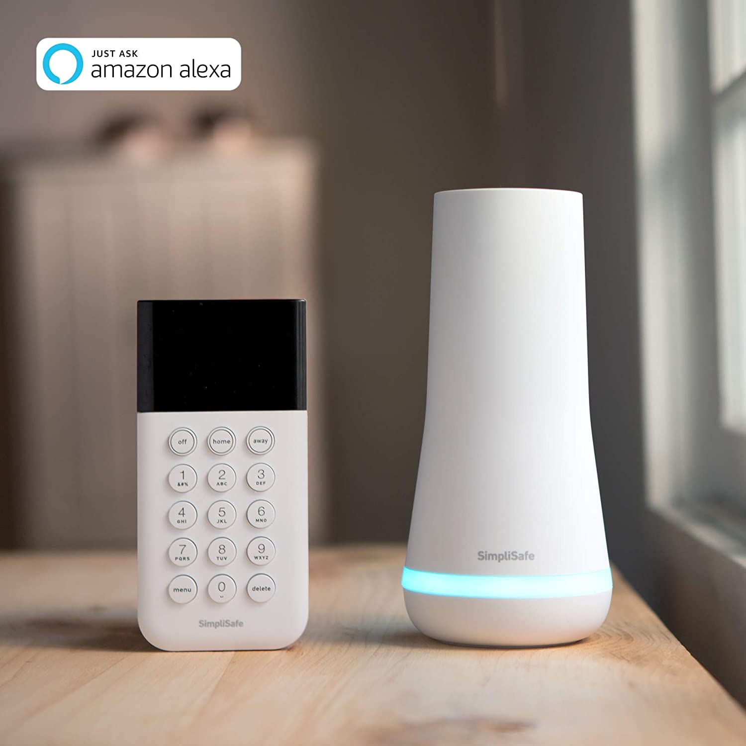 SimpliSafe 5 Piece Wireless Home Security System  Optional 247 Professional Monitoring  No Contract
