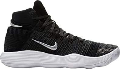 NIKE Hyperdunk 2017 Flyknit Size 10.5 Mens Basketball Shoe Black/Metallic  Silver Shoes
