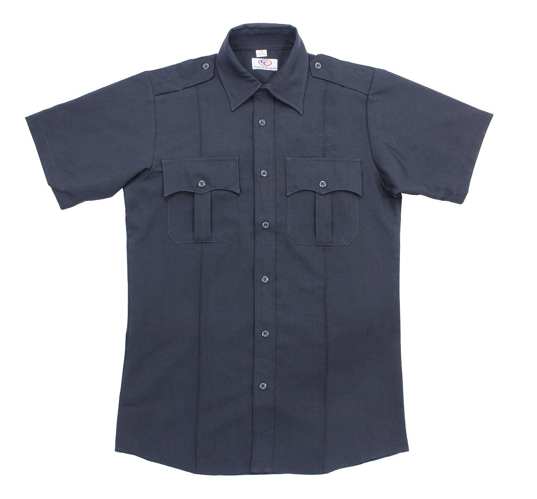 最初クラス100 %ポリエステル半袖メンズUniformシャツネイビーブルー B00E1SE4K4 Small|ネイビーブルー ネイビーブルー Small
