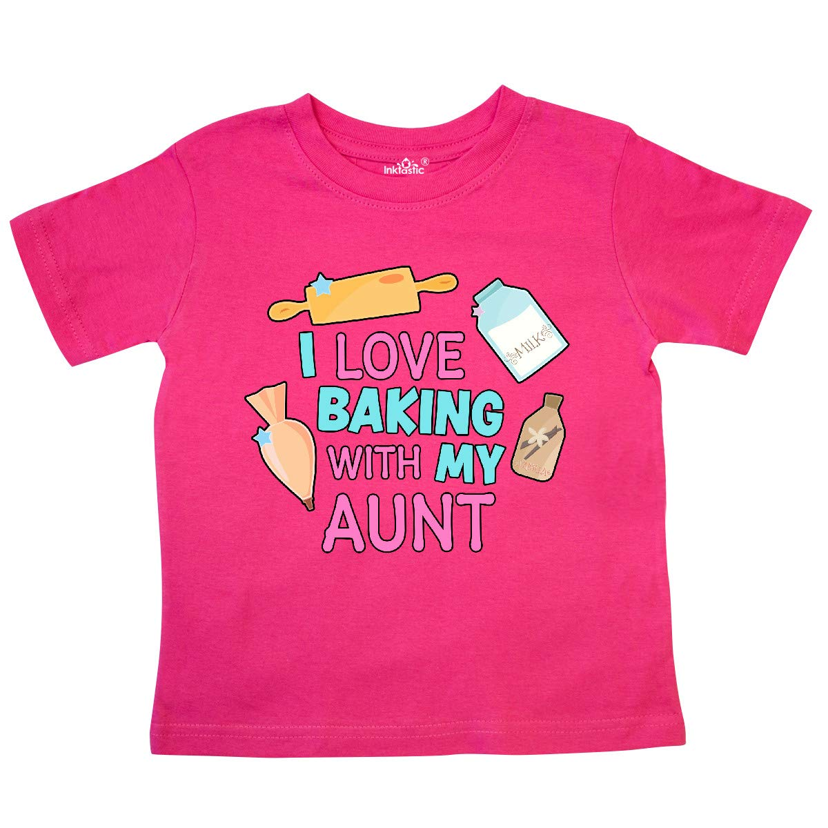 inktastic I Love Baking with My Aunt Toddler T-Shirt