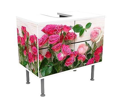 Wandmotiv24 Armoire De Toilette Roses Roses Et Cramoisies