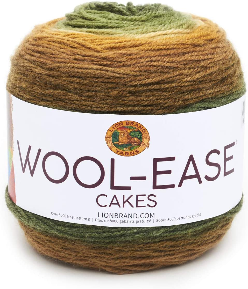 Lion Brand Yarn 621-206 Wool-Ease Cakes Apollo Pack of 3 cakes