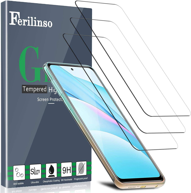 Ferilinso [3 Piezas para Protector de Pantalla Cristal Templado Xiaomi Mi 10T Lite/Mi 10T/10T Pro 5G, Protector Pantalla Cristal Templado Xiaomi Poco X3 NFC/Redmi Note 9S/Note 9 Pro Compatibile Funda