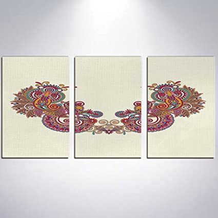 Amazon Com Canvas Wall Art Henna Canvas Painting Home Decor