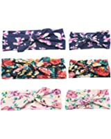 Mookiraer® Baby and Mother Newest Hair Bows Turban Headband Head Wrap Knotted Hair Band 3set