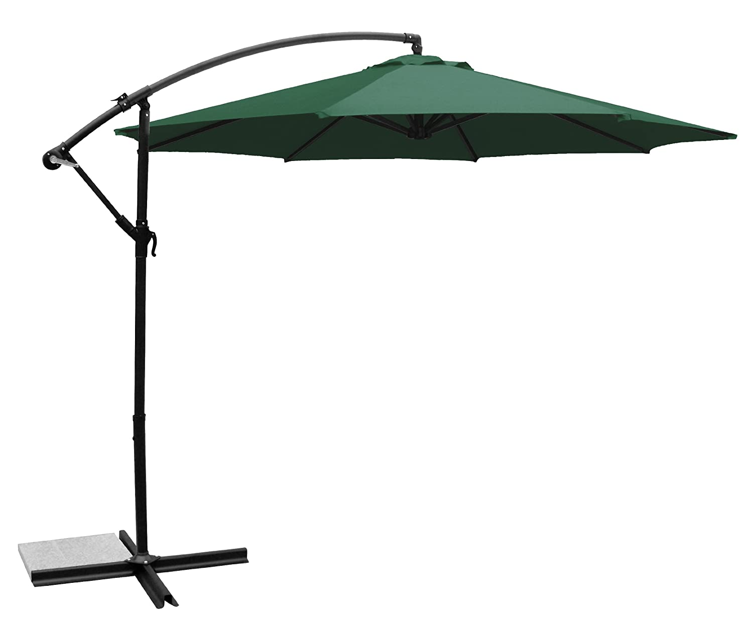 Amazon.com : Ace Evert Offset Umbrella 8074, 10 Ft, Polyester, Terra Cotta  : Patio Umbrellas : Garden U0026 Outdoor