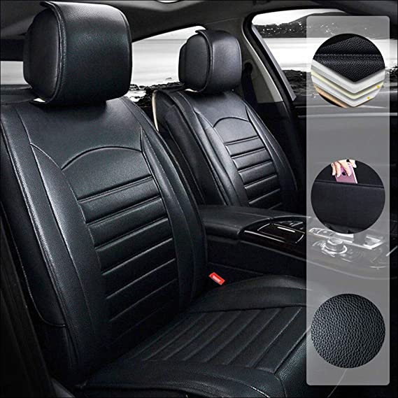 LANDROVER DISCOVERY 3 Heavy Duty Black Waterproof Car Seat Covers 2 x Fronts