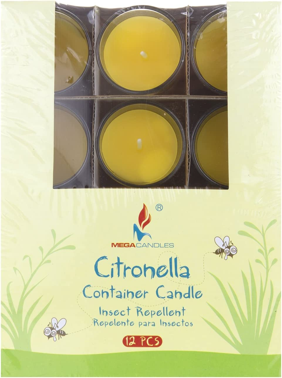 Everyday Candles for Mosquitoes and Insects Bug Repellent Candles for Indoor and Outdoor Use Hand Poured Paraffin Wax Candles 2 Diameter Mega Candles 4 pcs Citronella Floating Disc Candle
