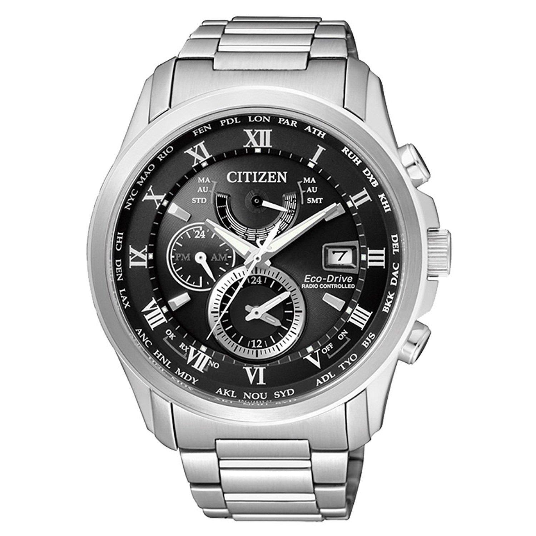 【シチズン】CITIZEN 電波ソーラー 世界時計 サファイヤクリスタル 逆輸入モデル 10気圧防水 AT9080-57E [並行輸入品] B078YZDPQ5