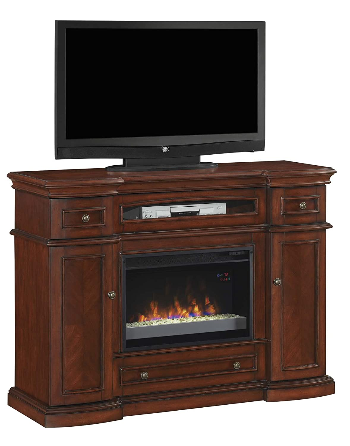 Amazoncom ClassicFlame MMC Montgomery TV Stand For TVs - Electric fireplace tv