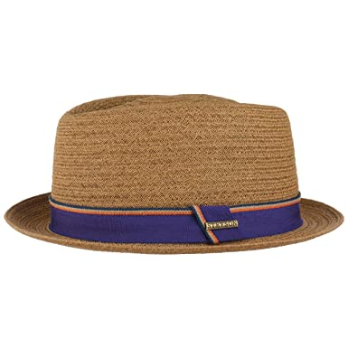 c3039efe0b42fd Stetson Collano Diamond Toyo Straw Hat Men | Beach Sun Fedora with  Grosgrain Band Spring-Summer: Amazon.co.uk: Clothing