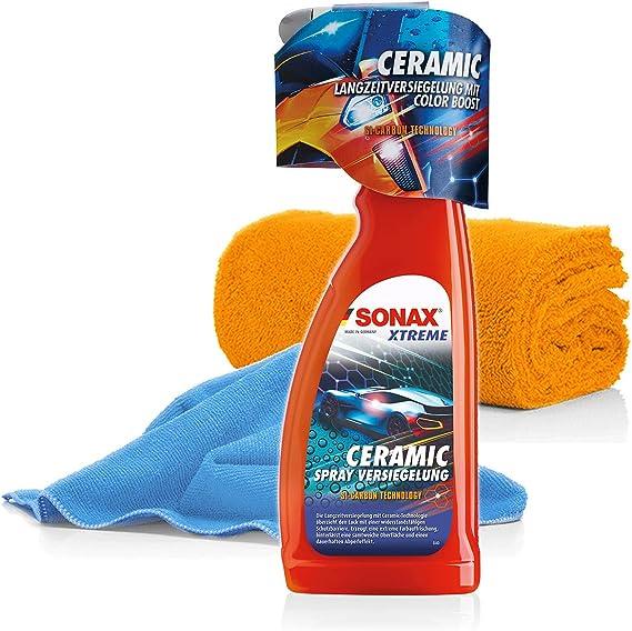 Detailmate Sonax Xtreme Ceramic Versiegelung Set Coating Keramik Versiegelung Für Autos Mit 2x Mikrofasertuch Für Schutz Und Glanz Auto