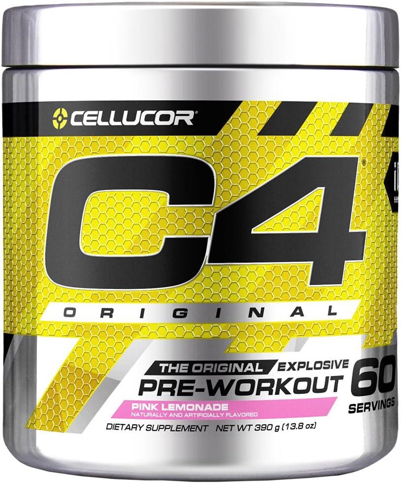 C4 Original Pre Workout Powder Pink Lemonade| Vitamin C for Immune Support | Sugar Free Preworkout Energy for Men & Women | 150mg Caffeine + Beta Alanine + Creatine | 60 Servings