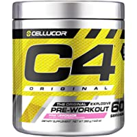 Cellucor C4 Original Pre Workout Powder Energy Drink Supplement For Men & Women with Creatine, Caffeine, Nitric Oxide Booster, Citrulline & Beta Alanine, Pink Lemonade, 60 Servings