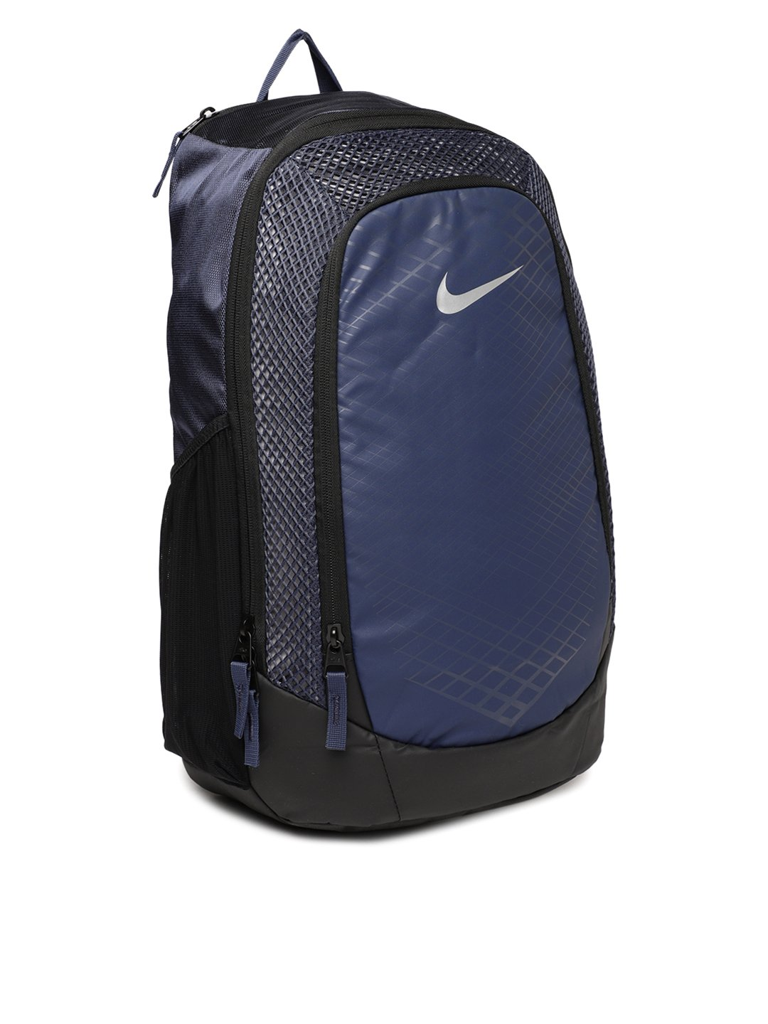 50e92fe97f Nike 25 Ltrs Thunder Blue Black Metallic Silver Casual Backpack (BA5474-471)   Amazon.in  Bags