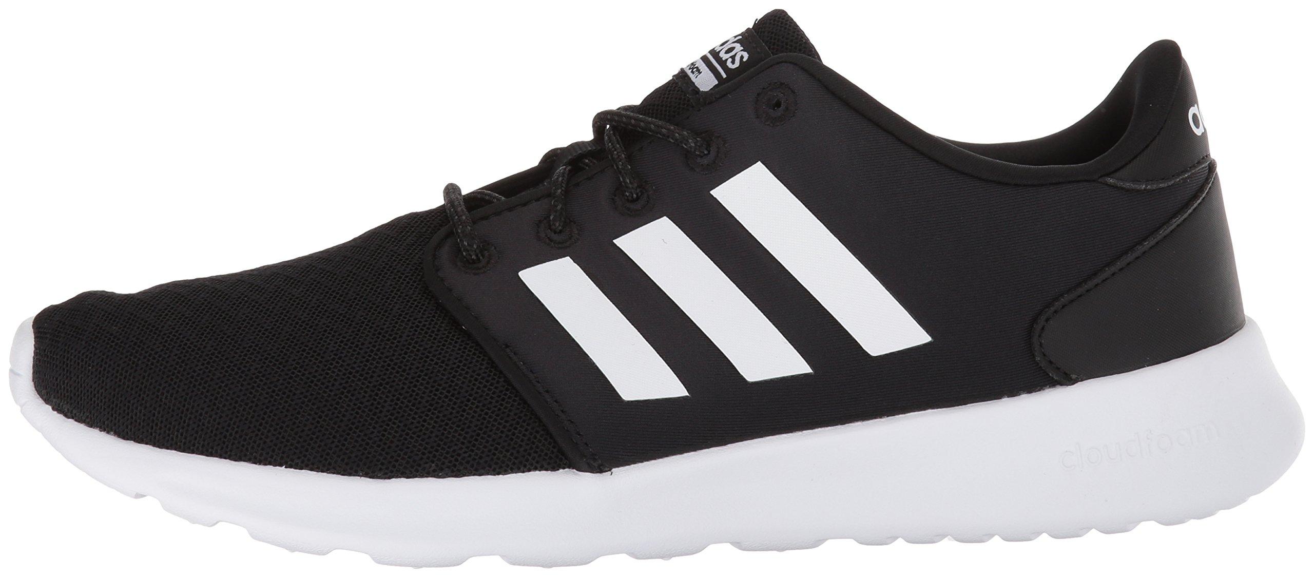 adidas Women's Cloudfoam QT Racer Running Shoe, Black/White/Carbon, 5 M US by adidas (Image #5)