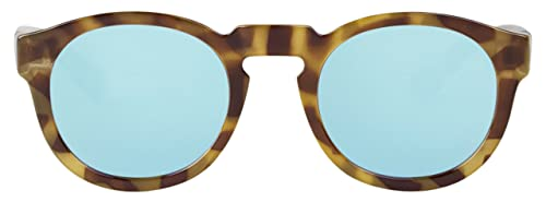 MR.BOHO, High-Contrast tortoise noord with sky blue lenses - Gafas De Sol unisex multicolor (carey),...