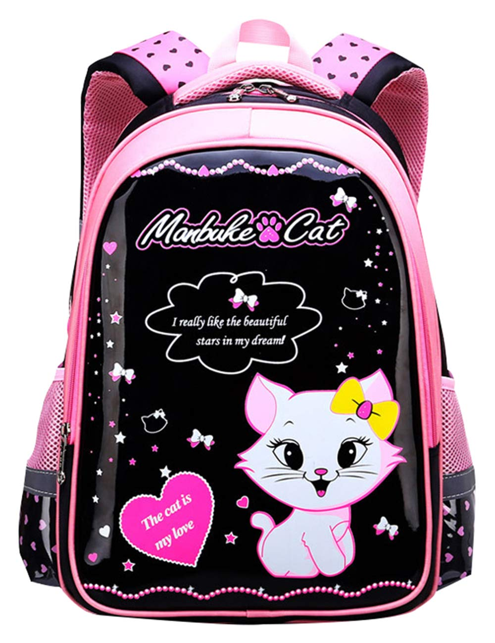14ec97ff3ef3 JiaYou Girl Boy Cute Lunch Bag Purse/Pencil Bag School Backpack 3 Sets  (20L, Style F BlackCat)
