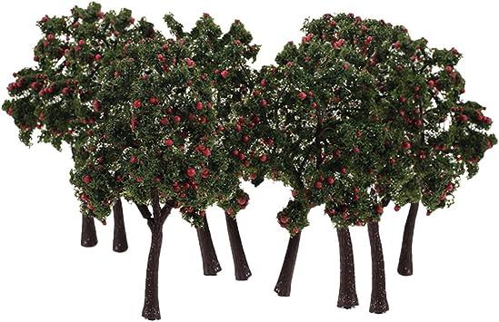 sharprepublic 10 X Modelo Árboles Frutales Jardín Parque Granja Huerta Montaña Diseño De Escena 1:75 HO OO: Amazon.es: Juguetes y juegos