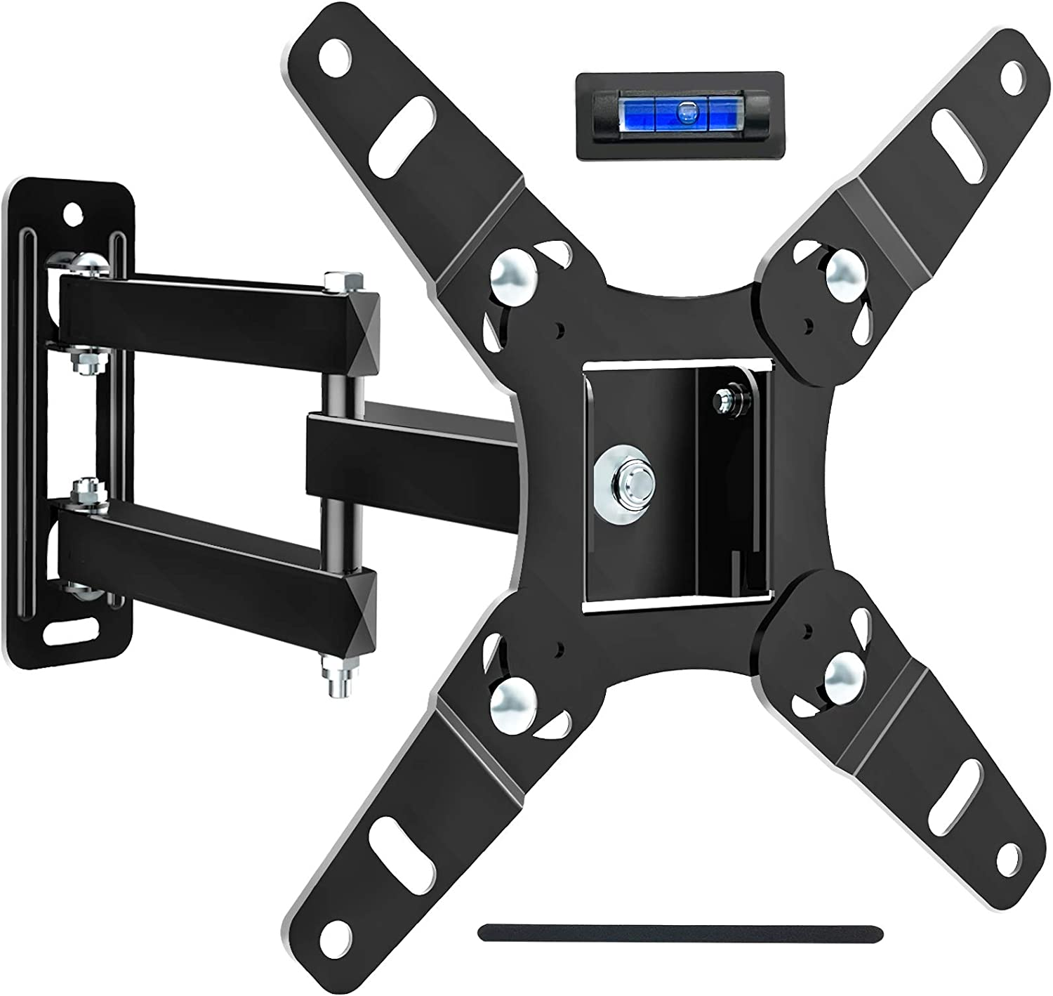 JUSTSTONE Full Motion TV Wall Mount Bracket for Most 13-45 Inch LED LCD Flat Curved Screen TVs, Articulating Arms Swivels Tilts Extension and 360° Rotation, Max VESA 200x200mm up to 55lbs