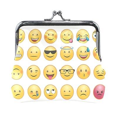Amazon.com: Funny Emoji Chat Emoticon - Monedero pequeño ...
